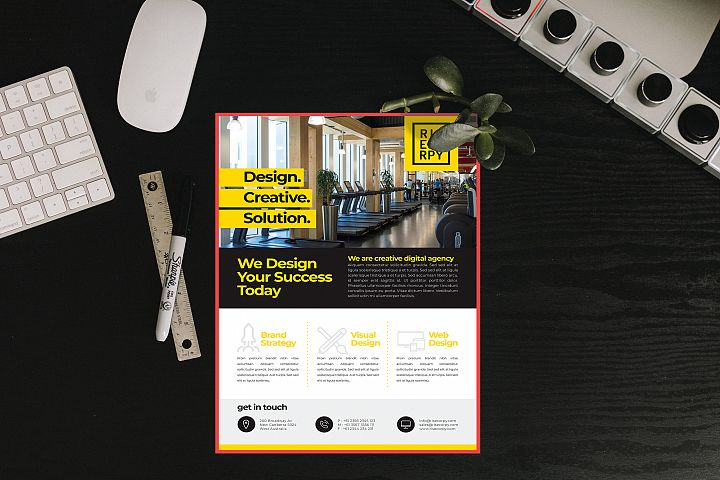 Corporate Flyer - Mockup Letter Size example