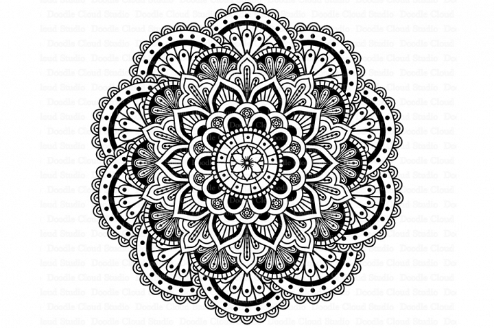 Mandala SVG DXF, Mandala Drawing, Mandala SVG files.