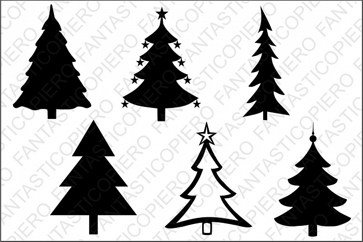 Christmas tree SVG files for Silhouette and Cricut.