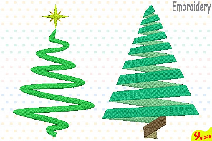 Christmas Tree Embroidery Design. Machine Instant Download Commercial Use digital file 4x4 5x7 hoop icon symbol sign Santa Tree mini 124b