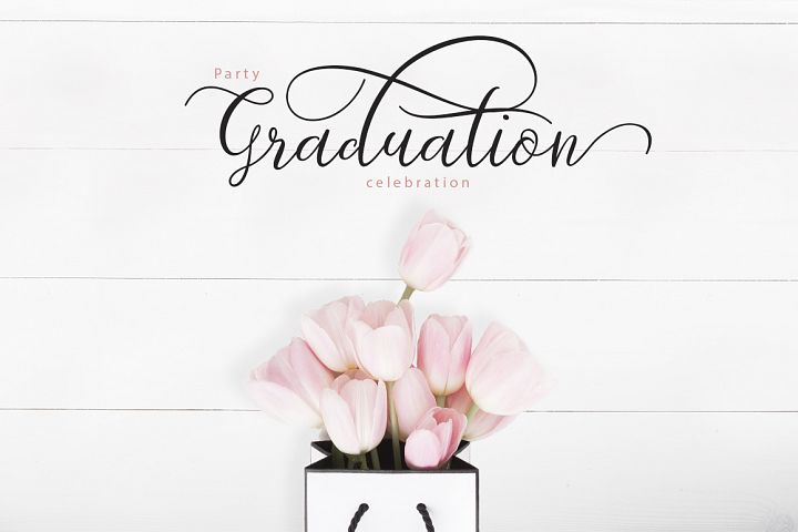 Graduation card example with Prologue Script