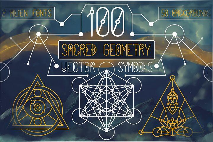 100 Sacred Geometry Symbols