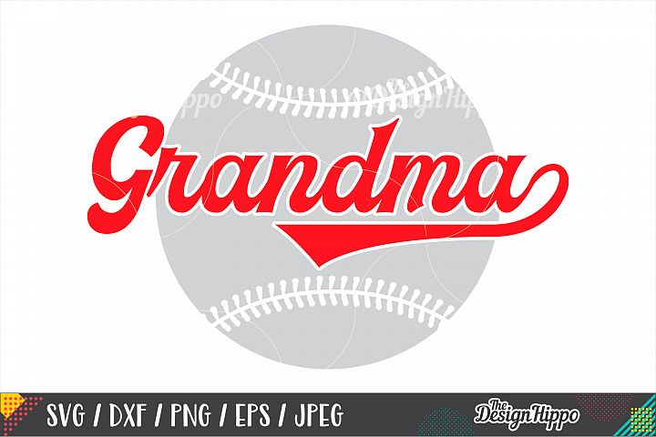 Baseball Grandma SVG PNG DXF EPS Cutting Files