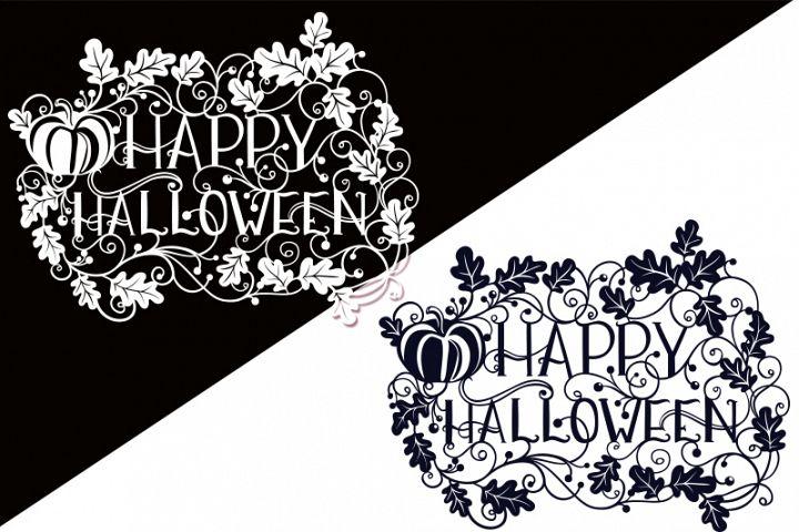 Happy Halloween SVG Papercut File - Free Design of The Week Design0