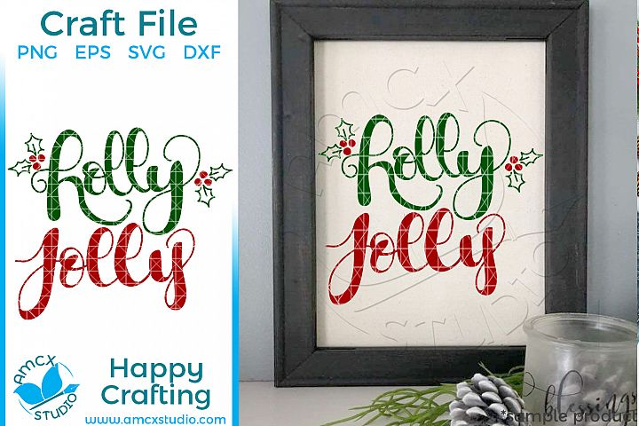 Holly Jolly Christmas SVG Craft File