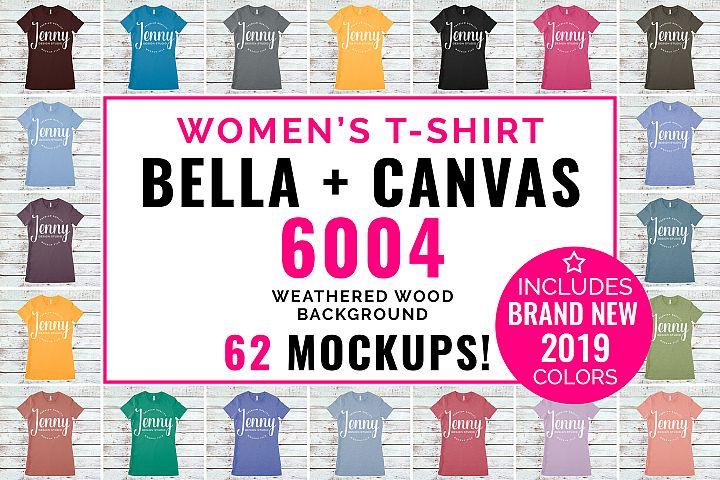 Bella Canvas 6004 Unisex Mockup Bundle, Womens T-Shirt