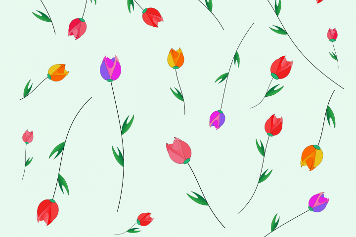 Pattern of tulips.