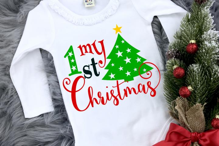 Baby christmas svg, My 1st christmas svg, dxf, eps, png, pdf