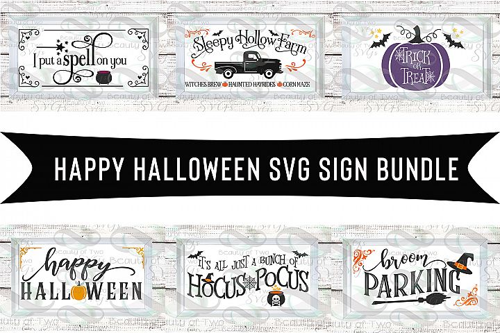 Happy Halloween svg sign design bundle, Halloween svg