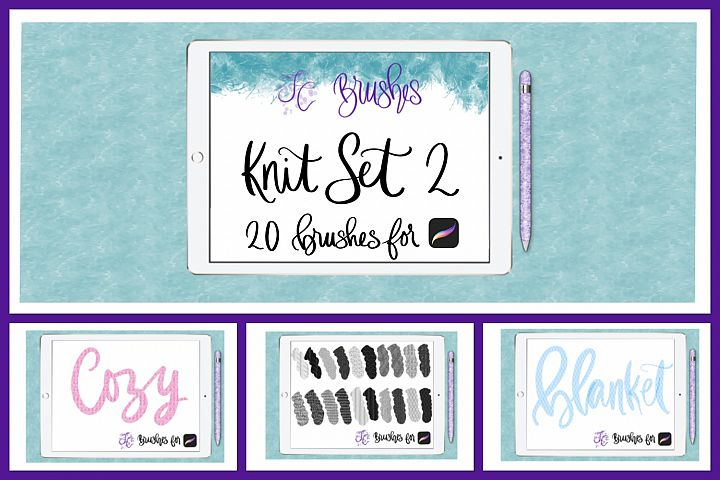 FC-Knit-Set2 brushes for PROCREATE