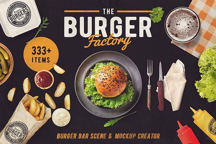 The Burger Bar - Scene and Mock-up Generator