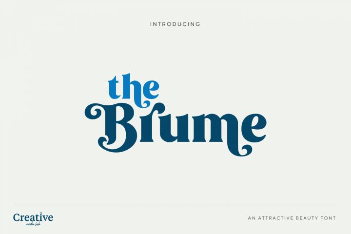 Brume - Beauty font