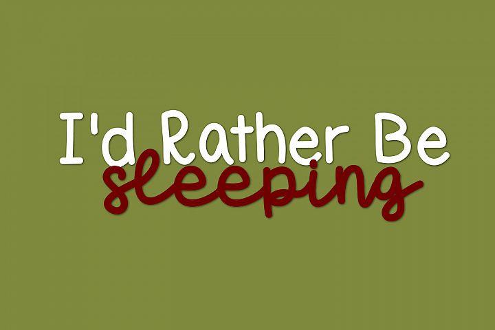 Sleepy Sloth, Handwritten Font Duo - Free Font of The Week Design3