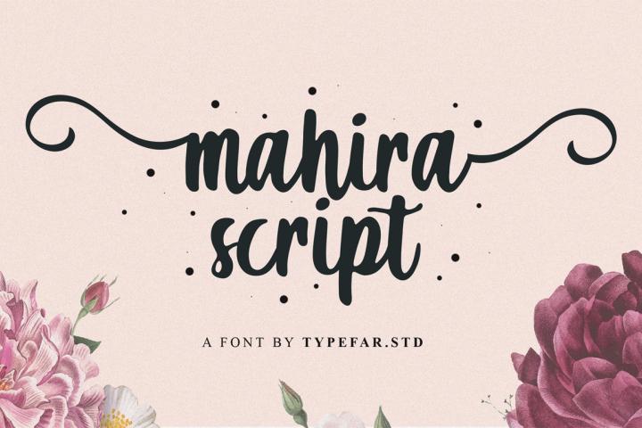Mahira | Sweet Script Font