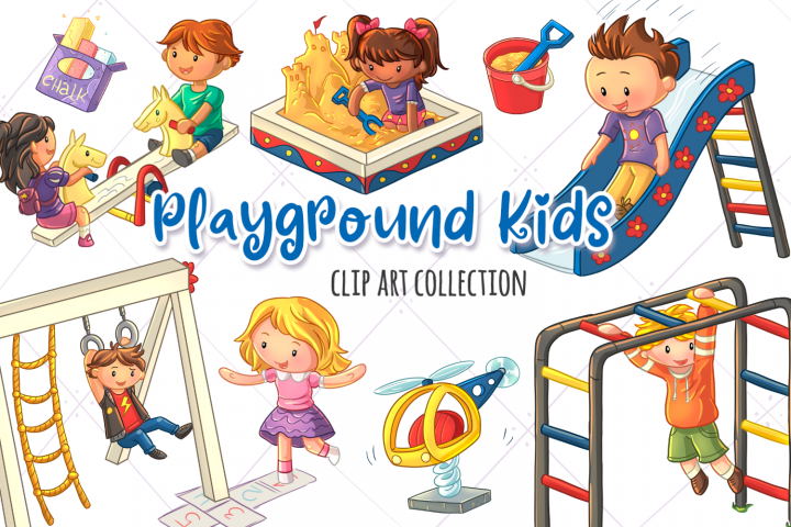 Playground Kids Clip Art Collection