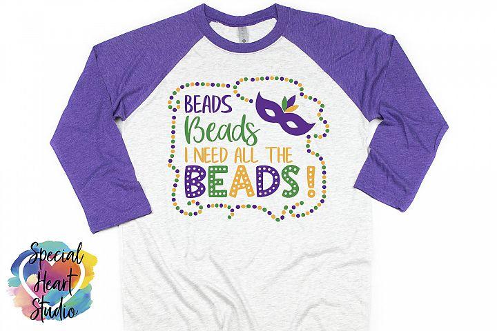 Beads SVG - A fun Mardi Gras cut file