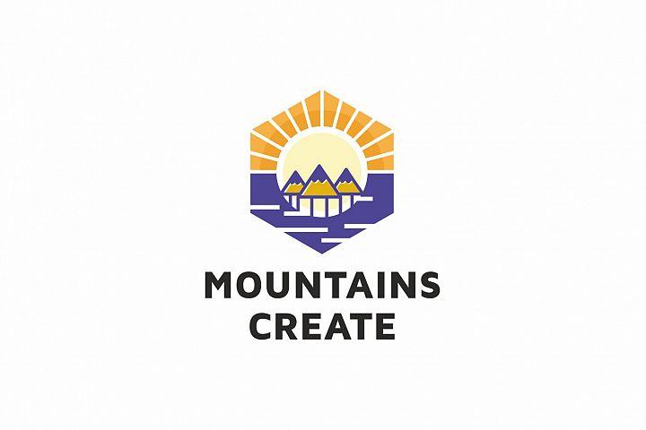 Mountains Create Logo