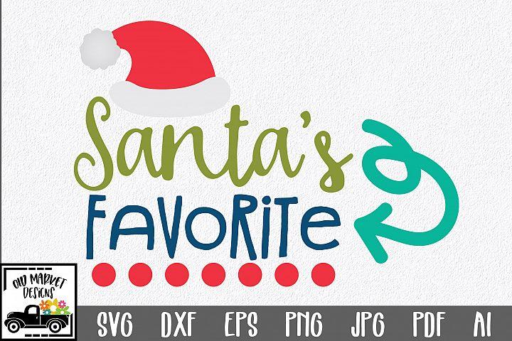 Christmas SVG Cut File - Santas Favorite SVG DXF EPS PNG