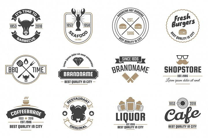 42  Vintage Logo Set example 10