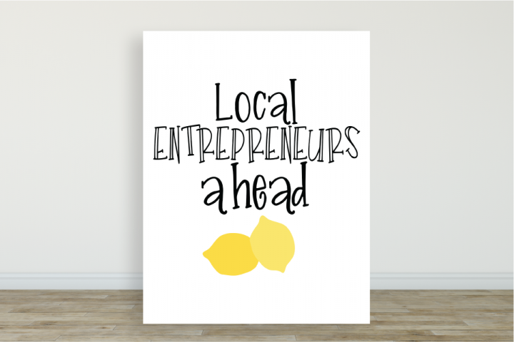Local Entrepreneurs Lemonade Stand Poster & Digital Graphic