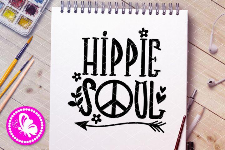 Hippie soul svg Peace sign Flowers Heart png Adventure Eps