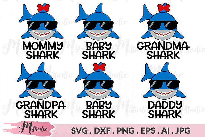 Shark Family 2 svg