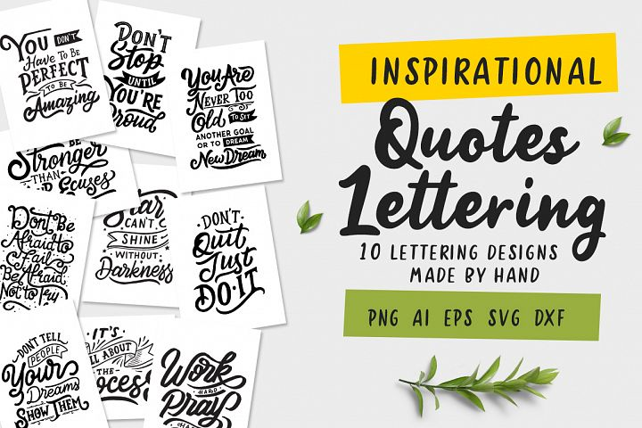 Inspirational Quotes Lettering