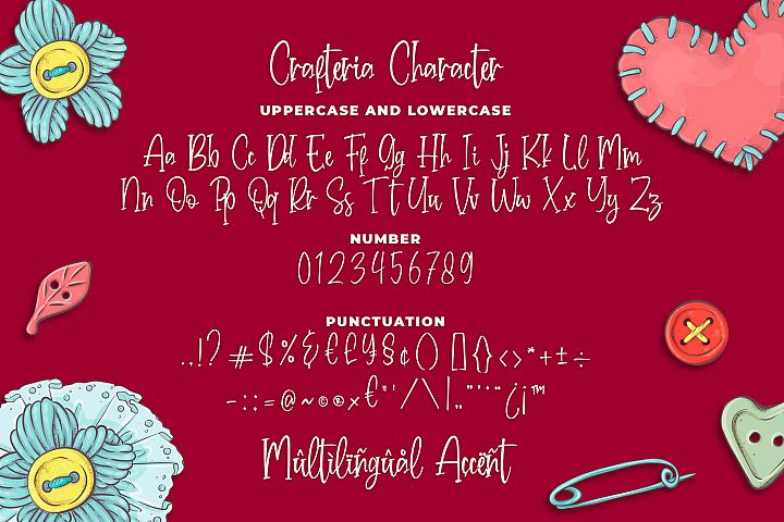 Crafteria Script Font example image 4