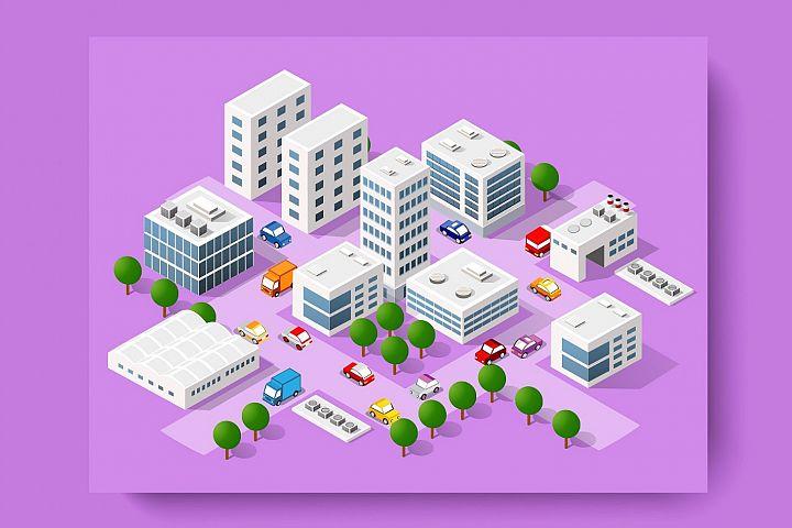 Modern vector 3D city