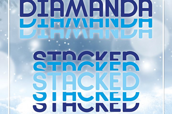 Diamanda Stacked Outline & Solid example image 7