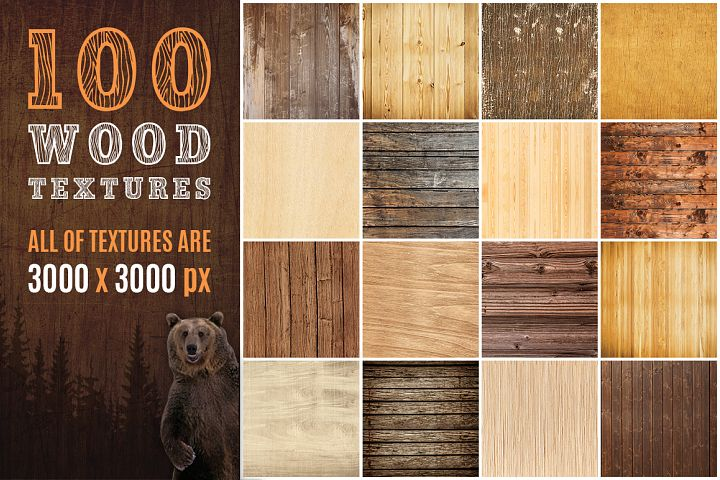 100 Real Wood Textures example