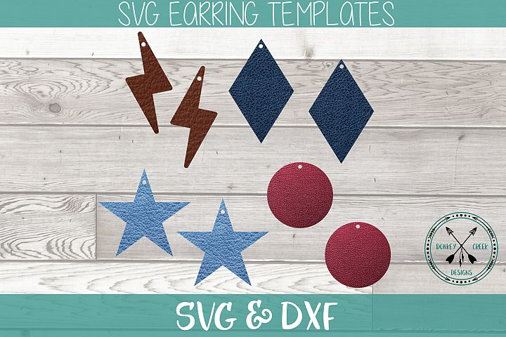 Earring SVG bundle for Faux Leather She