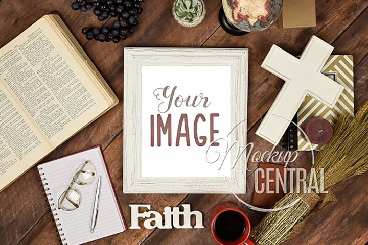 Religious Christian Frame Sign Mock Up, JPG Mockup