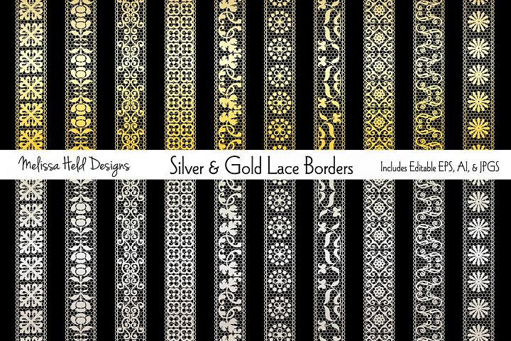 Silver & Gold Lace Border Patterns