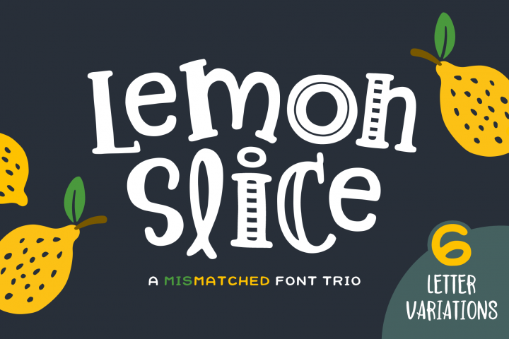 Lemon Slice Font Trio