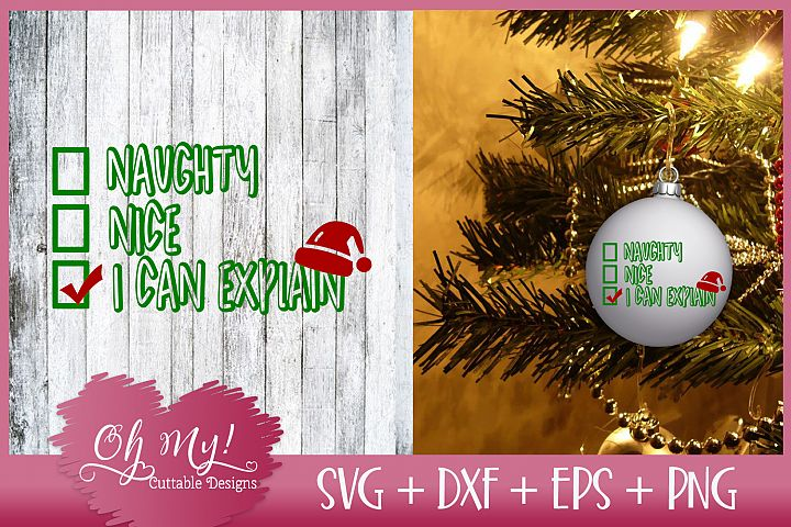 Naughty, Nice, I Can Explain Checkbox - SVG DXF EPS PNG