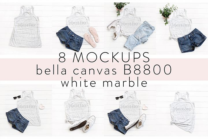 Bella Canvas B8800 shirt Mockup Bundle