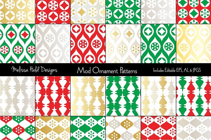 Mod Christmas Ornament Patterns
