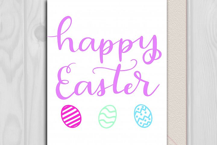 Happy Easter SVG - Handlettered cut file example 2