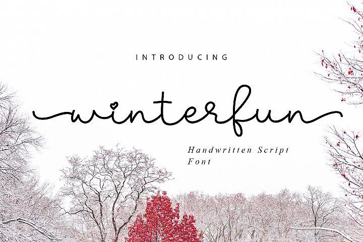 Winterfun | Handwritten Font