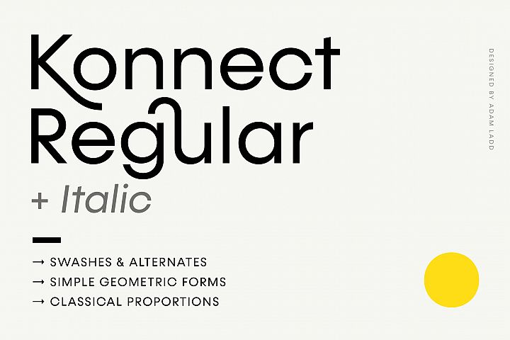 Konnect Regular & Italic Fonts
