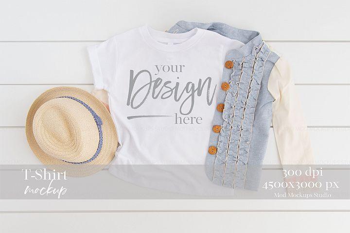 Mock up T-Shirt WHITE | 3001T Bella Canvas Mockup