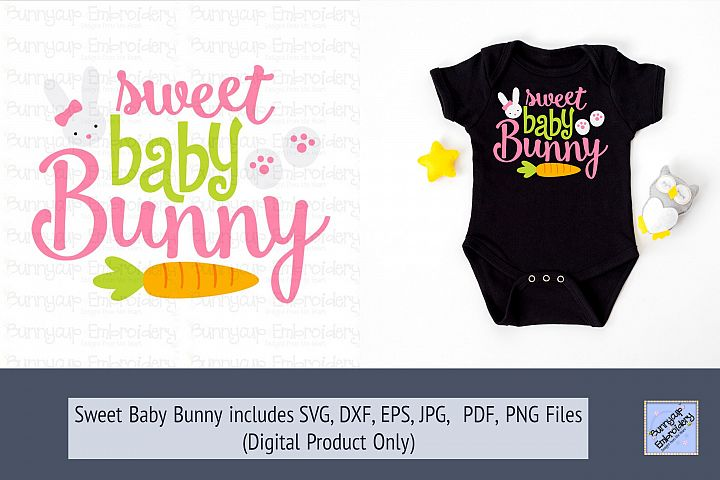 Sweet Baby Bunny - SVG, Clipart and Printable