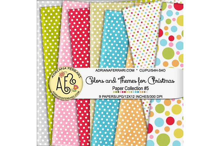 Colors and Themes for Christmas Papers 5