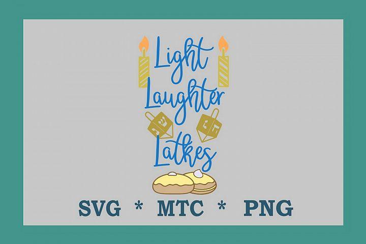 SVG Hanukka Light Laughter Latkes QuoteDesign #05 Cut File