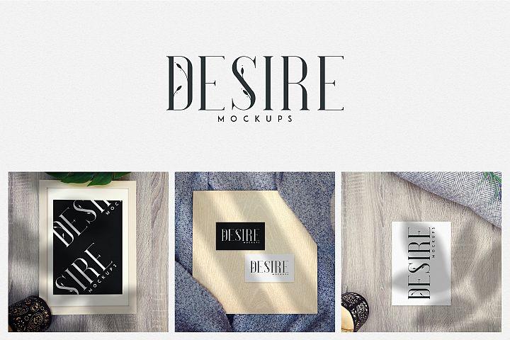 Desire - Photorealistic mockups