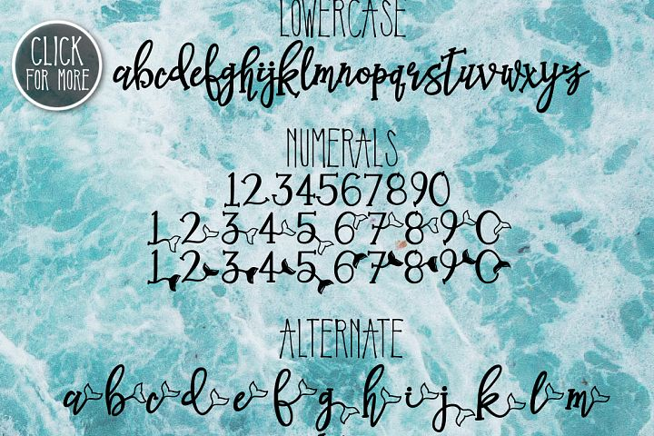 Mermaid Tails a Handwritten Typeface - Free Font of The Week Design 2