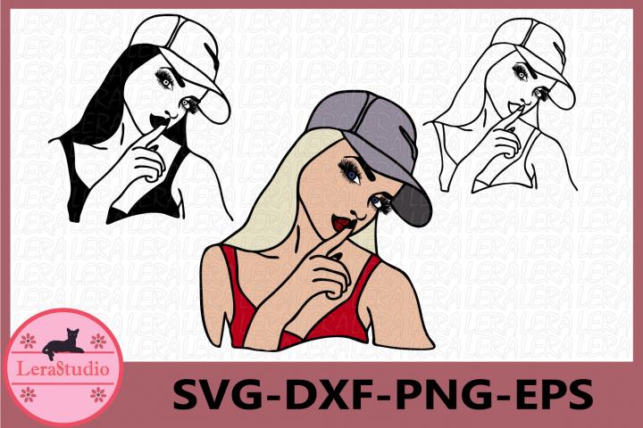 Girl Clipart, Girl Face Svg, Sexy Girl Svg, Girl Silhouette