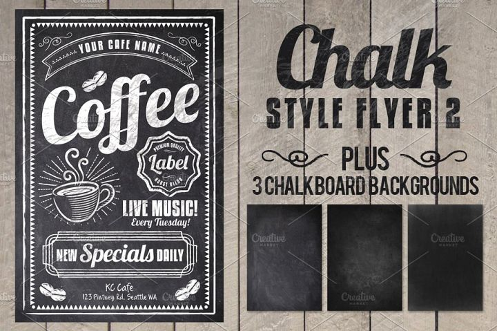 Chalk Coffee Cafe Flyer