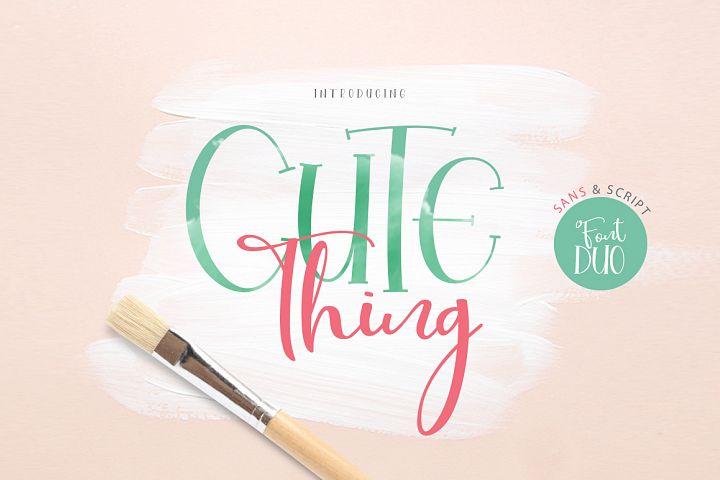 Cute Thing Font Duo